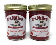 Mrs Millers Jalapeno Red Raspberry Jam (Amish Made) ~ 2 / 9 Oz. Jars, SHIPS FREE