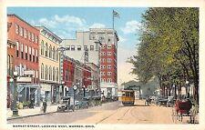 Warren Ohio Market Street Looking West Antique Postcard (J30063)