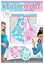 """Gender Reveal Poster Curtain 2' High Insert """"it's a girl or it's a boy"""" New"""