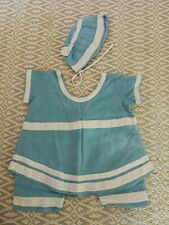 Antique Baby Or Child Swimming Costume And Bonnet