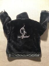 Baby Phat Women's Reversible Genuine Leather & Faux Fur Winter Jacket Sz S #BB2