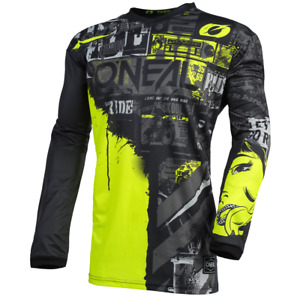 O'Neal Element Jersey Ride YOUTH (Black/Neon Yellow) XLARGE