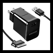 SAMSUNG GALAXY TAB 10.1 OEM USB HOME WALL CHARGER ADAPTER ETA-P10JBEGSTA + CABLE