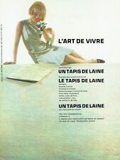 PUBLICITE ADVERTISING 126  1962  Tapis de France   en laine