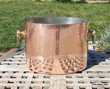 Hammered Copper Double Wine Bucket w/ tin lining, Made in France