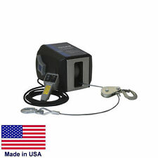 """Winch - Commercial - 120V Ac - 6 Amp - 4,000 Lb Cap - 7/32"""" x 50 Ft Wire Rope"""