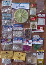 large lot mixed beads organizer wheel beading thread needles westrim crafts+