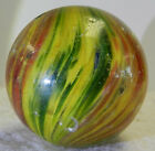 #12965m Large 1.58 Inches German Handmade Onionskin Marble