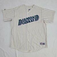 Arizona Diamondbacks MLB Jersey Mens 2XL Purple Pinstripe Ivory Vintage Majestic
