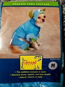 NWT 👻 2HORNED 1EYED FURRY DOG MONSTER COSTUME - U CHOOSE Pink / Blue  MED