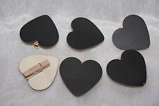 Tischkarten Platzkarten Namenskärtchen Holz mit Klammer Herz natur