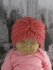 PRINTED  INSTRUCTIONS-  BABY CHUNKY BEEHIVE TURBAN BEANIE  HAT KNITTING PATTERN