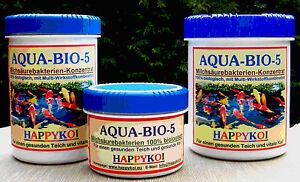 Milchsäurebakterien Pulver, AQUA BIO 5, für 150.000 Ltr Happykoi, Teichbakterien