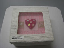 Pink Heart in a Sheer Top Natural Paper Gift Box Party Supplies Wedding Favor