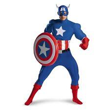 Capitan America Classico Adulto Muscolo Costume Rental Qualità 42-46 Disguise