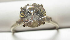 fine sterling silver  ring set with  white topaz gemstone size 11