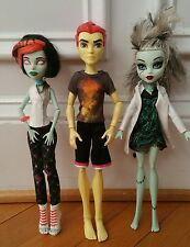 Monster High Dolls 2008 FRANKIE STEIN Heath Blaze Yellow Boy SCARAH Screams