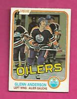 1981-82 OPC # 108 OILERS GLENN ANDERSON ROOKIE EX+ CARD (INV# C8640)