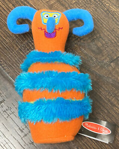 Melissa And Doug Monster Bowling Replacement Pin Orange And Blue # 2191