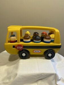 Vintage 1988 Little Tikes Toddle Tots Yellow SCHOOL BUS with 9 Toddle Tots.