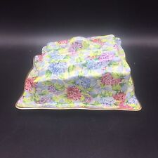 "James Kent Chintz Hydrangea Staffordshire Covered Cheese Set 7.25"" Ltd Edition"