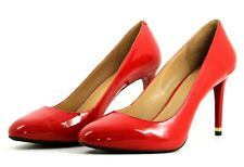 Michael Kors Womens UK 7.5 EU 40.5 Red Patent Leather High Heel Court Shoes
