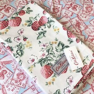 CATH KIDSTON Wild Strawberries Tablecloth Table Cloth Material Fabric 180 x140cm