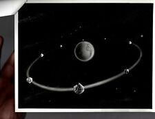 Vintage Military Press Photo Artist Concept Communications Satellites V04