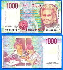 Italy 1000 Lire 1990 Lires Europe Verdi Scala Italia banknote Low Shipping Ppal
