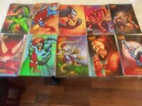 1995 Fleer Marvel Amazing Spider-man Masterpiece.Set of 10  Prints Jumbo NM/M