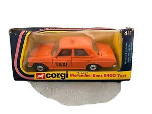 Corgi Whizwheels. 411 Mercedes 240D Taxi
