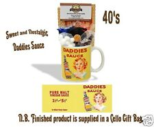 Daddies sauce tasse avec une tasse de thé sélection des années 1940 traditionnel bonbons