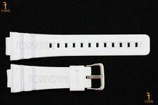 16mm Fits CASIO DW-6900 G-Shock White (Matte) Rubber Watch BAND DW-6900B DW-6600