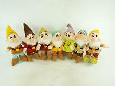 Disney Seven 7 Dwarfs Bean Bag Beanbag Beanie Plush Lot from Snow White