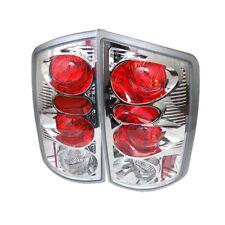 Dodge 02-06 Ram 1500/2500/3500 Chrome Euro Style Rear Tail Light Brake Lamp Set
