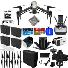 DJI Inspire 2 Quadcopter W/ CinemaDNG and Apple ProRes 4 BATTERY BUNDLE - New!