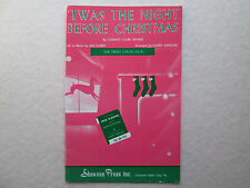 'TWAS THE NIGHT BEFORE CHRISTMAS Sheet Music for Treble Voices SSA S.S.A. Choir
