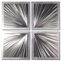 Starburst Metal Art Abstract Wall Sculpture Contemporary Artwork Original Etchin