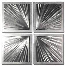 Starburst Metal Art Abstract Wall Sculpture Contemporary Artwork Original Etchin