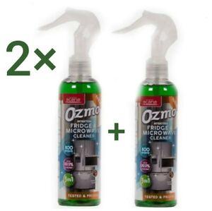 X 2 Ozmo Antibacterial Fridge and Microwave Cleaner Killa Germs 800 sprays