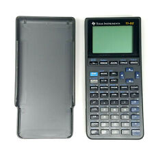 Texas Instruments TI-82 Graphing Calculator Gray w/Sleeve Cover Parts or Repair