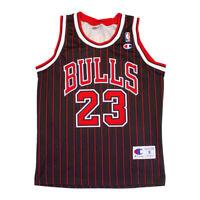 Chicago Bulls Michael Jordan Champion Black Jersey | NBA Basketball Shirt Sports