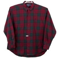 Ralph Lauren Purple Plaid Blake Button Front LS Shirt Mens 2XL XXL Free Shipping