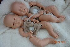 "REBORN BABY- DOLL KIT new Sculpt "" ANNA & ELSA "" F/L + 20in DISK BODY  EYES INC"