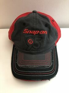 Snap-On Tools 95th Anniversary Grey & Red Embroidered Logo Baseball Cap Hat New