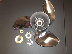 STAINLESS STEEL Mercury MERCRUISER  PROP PROPELLER 14 1/4 14.25 X 21 RH ALPHA