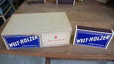 Objets quotidien Vintage 11 Boites Allumettes WELT HOLZER Allemagne 1940 Neuves