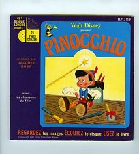 45 RPM LIVRE DISQUE PINOCCHIO (WALT DISNEY)