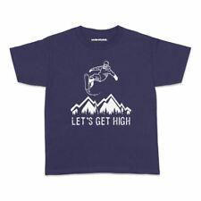 Snowboard High Kids Tshirt Sport Snowboard Winter Teens Youth