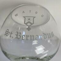 Vintage Watou St. Bernardus Beer Glass Goblet Heavy Bottom